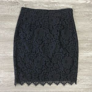 Wells Grace Black Lace Lined Skirt